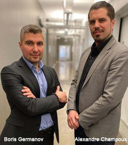 Alexandre Champoux, Co-Founder and CEO & Boris Germanov, VP, Strategic Development, Civalgo