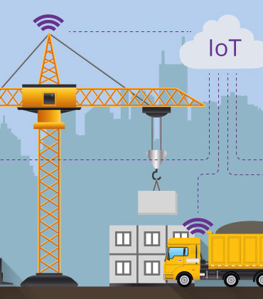 How do IoT-driven construction sites gain efficiency and save money?
